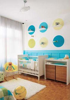 Quarto de bebês menino - Reciclar e Decorar