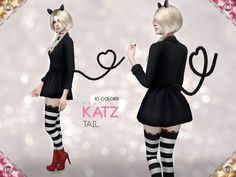 The Sims Resource: Katz Tail by Pralinesims • Sims 4 Downloads