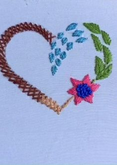 Hand Embroidery Patterns Flowers, Ribbon Embroidery Tutorial, Basic Embroidery Stitches, Hand Embroidery Videos, Creative Embroidery, Simple Embroidery, Hand Embroidery Designs, Embroidery Techniques, Couture