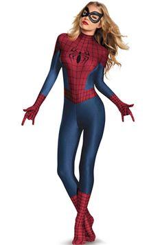 Spider-Man Sassy Bodysuit Adult Costume - Pure Costumes