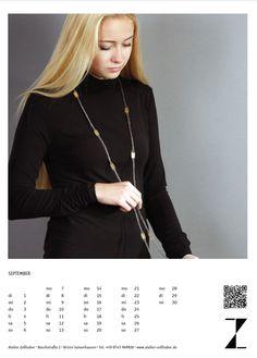 Kalenderblatt #Schmuckkalender 2015 Monat September, www.atelier-zellhuber.de
