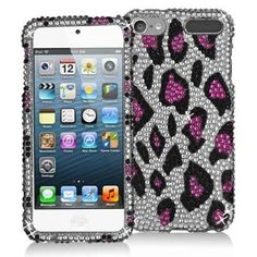 Hot Pink Leopard Bling Rhinestone Diamond Snap-On Hard Skin Case Cover for Apple iPod Touch Generation 5 Cute Ipod Cases, Ipod Touch Cases, Iphone Cases, Phone Accesories, Ipod Touch 5th Generation, Ipod 5, Skin Case, Hot Pink, Bling