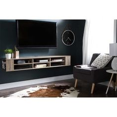Shop for South Shore City Life 66-inch Wall Mounted Media Console. Get free shipping at Overstock.com - Your Online Furniture Outlet Store! Get 5% in rewards with Club O! - 17453193