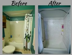 Complete Bathroom Remodel New Tub And Shower Surround Corner Shelves Brought To You By Re Bath Of The Triangle