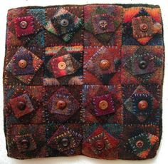 tiny wool quilt, morna crites-moore by lenore