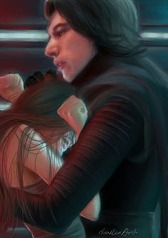 Reylo fanart from Star Wars Episode VII The Force Awakens