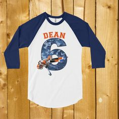 Personalized shirt for the foam dart/ Nerf gun lover. Nerf Birthday party shirt