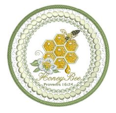 Honeycomb Mug Mat Round - Pixies Rule! Honeycomb, Machine Embroidery Designs, Embellishments, Coasters, Decorative Plates, Bee, Quilts, Stitch, Mugs