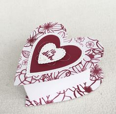 In Liebe Stamping Up, Goodies, 3d, Amor, Valentines, Friendship, Heart Map, Stocking Stuffers, Bricolage
