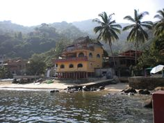 Yelapa, Mexico. The water is super green here. We snorkeled in Emerald Bay