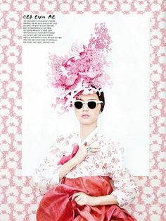 From Vogue Korea - traditional Korean gown