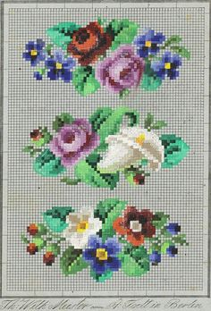 щгш Cross Stitch Rose, Cross Stitch Flowers, Hand Embroidery Designs, Embroidery Patterns, Cross Stitch Designs, Cross Stitch Patterns, Cross Stitching, Cross Stitch Embroidery, Seed Bead Flowers