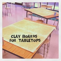 Clay Boards for Tabletops