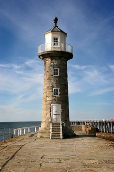 Whitby, the old East Pier #Lighthouse, Saltwick Bay, North Yorkshire, #England http://dennisharper.lnf.com/