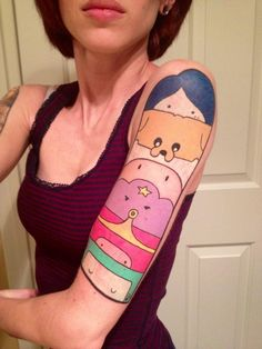Adventure time half sleeve.... wow hahaha