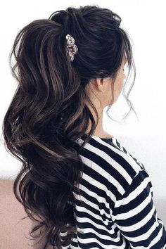 Party Perfect Pony Tail Hairstyles For Your Big Day ❤ See more: http://www.weddingforward.com/pony-tail-hairstyles/ #weddingforward #bride #bridal #wedding