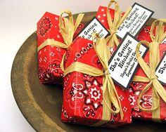 50 Handmade Soap Favors (2.7 oz each)  for Bridal Shower/Wedding Western Theme designed by High Street Soap