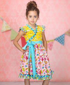 Love this Pink Cream Candy Mischa Surplice Dress - Infant, Toddler & Girls on #zulily! #zulilyfinds
