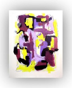 Original Abstract Painting Abstract Minimalist by LenDickson