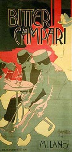 Hohenstein, Adolfo poster: Bitter Campari