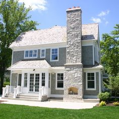 Gray Shingle Exterior Design, Pictures, Remodel, Decor and Ideas - page 2