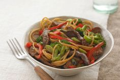 Noodle bowls are quick, delicious and wide-ranging. They include Asian-inspired stir-fries with chicken, pork or beef, or creamy stroganoff-style dishes.