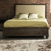 Zuo Era - solid wood, linen headboard - Found it at Wayfair - The City Panel Bed