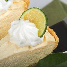 Real Key Lime Pie is not green and does not have a pudding like texture. The pie gets its true pale color from the egg yolks that predominate the ingredient lit. Learn about key lime pie, select the right limes, the right tools, and history and recipe for the pie.