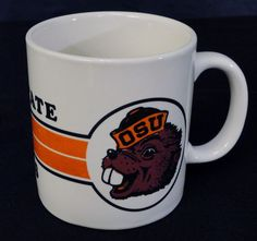 Oregon State Beavers Coffee Mug Tea Cup Heavy Orange Hot Chocolate College #