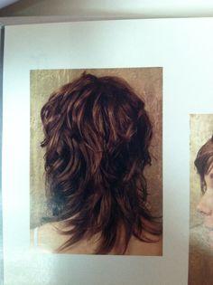 Wavy Shag Haircut back view