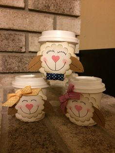 Easter Lamb Mini Coffee Cups  Created by Dianne Jackson at Delightful Designs