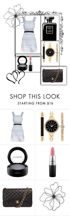 """""""Untitled #237"""" by jasmine-rlrh on Polyvore featuring self-portrait, Style & Co., MAC Cosmetics and Chanel"""