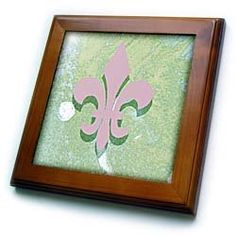 Cassie Peters Digital Art - Fleur De Lis Digital Art - Framed Tiles :           Fleur De Lis Digital Art Framed Tile is measuring 8w x 8h x .75d. Made of solid wood with predrilled keyhole for easy wall mounting. Framed tile comes with 6w x 6h ceramic gloss tile attached to the wood frame.                           **Read more Details : http://gethotprice.com/appin/?t=B0044QW44G