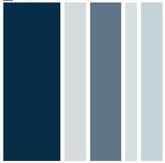 Camaieu de bleus, qui vont avec du gris, du brun                                                                                                                                                     Plus