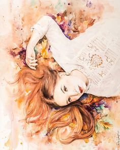 71 Likes, 6 Comments - Raluca Judet Watercolor Portraits, Watercolor And Ink, Beautiful Young Lady, Surprise Gifts, Young Women, Artist, Instagram, Artists