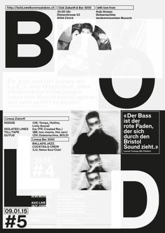 qualitegraphiquegarantie: BOLD — posters overprinted with black...