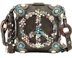 Mary Frances Peace Out Hippie Multi Color Summer 2014 Bag New Handbag Purse 1