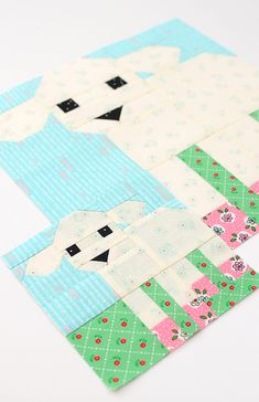 New Easter Quilt Patterns: Little Lamb Quilt Block + {free Pillow Tutorial, DIY and Crafts, New Easters quilt patterns by Nadra Ridgeway of ellis & higgs. The Lamb quilt block is one of ten spring quilt designs that are perfect to include int. Sewing Patterns Free, Free Sewing, Sewing Tips, Sewing Hacks, Sewing Tutorials, Quilt Tutorials, Quilting Patterns Free, Quilt Block Patterns, Quilt Blocks
