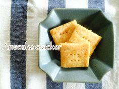どこか懐かしい味の素朴なクラッカーです。お砂糖の代わりに発酵食品の甘酒を使用しました◎。