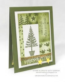 Stamp & Create With Sabrina: Festival of Trees - Mossy Meadow