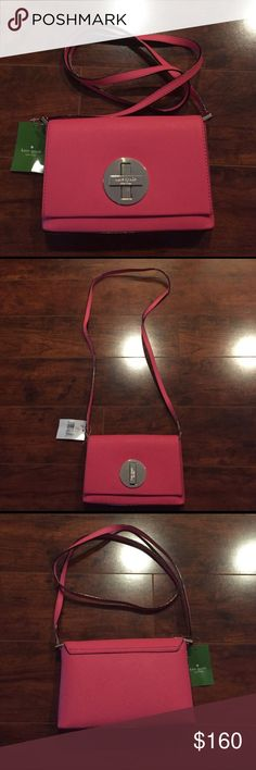 Kate Spade- Fuchsia Shoulder Purse Trendy Kate Spade purse. Never been used, still has tags! Vibrant pink color. kate spade Bags Shoulder Bags