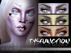 Found in TSR Category 'Sims 4 Eye Colors' Sims 4 Cc Eyes, Game Codes, Sims 4 Cc Furniture, Sims Resource, Sims 4 Custom Content, Eye Color, Halloween Face Makeup, Eyes, Eyeshadows