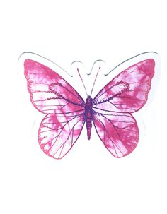 Colorful Butterfly Drawing, White Butterfly, Pink Ties, Bone Tattoos, Tie Dye, Tattoos For Women, Stickers, My Favorite Things, Drawings