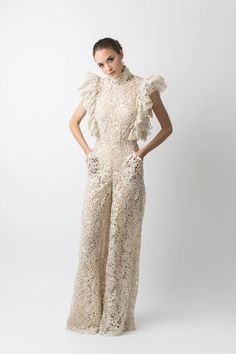 f0ce9c17304 Open back lace jumpsuit. This delicate lace jumpsuit is an elegant yet fun  outfit for