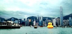 The world's largest rubber duck by Florentijn Hofman will create smiles in Hong Kong at Ocean Terminal through June 9. It's headed to the U.S. next!