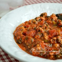 Italian Turkey Chili