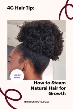 Read this article for tips on how to steam hair at home without a steamer. 6 DIY ways to steam hair, and the benefits of steaming for 4c natural hair. via @hibiscusroots Natural Hair Growth Tips, Natural Hair Regimen, How To Grow Natural Hair, Long Natural Hair, Natural Hair Styles For Black Women, Deep Conditioning Hair Mask, Natural Hair Moisturizer, How To Grow Your Hair Faster, Hair Porosity