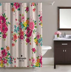 Hot Best Seller Kate Spade Pink Rose Floral Free Shipping Shower Curtain 60x72
