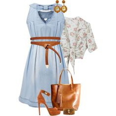 """""""Denim Dress"""" by feelgood35 on Polyvore"""
