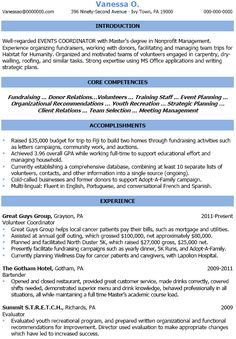 Sample Resume For Event Coordinator Event Planner Resume.  Resume For Event Coordinator